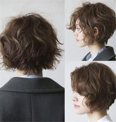Short Hairstyles For Thick Hair, Short Curly Hair, Short Hair Cuts, Curly Hair Styles, Pixie Wavy Hair, Short Thick Wavy Hair, Short Hair Tomboy, Undercut Short Hair, Women Short Hair