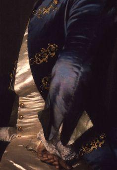 Sir Thomas Robinson, 1st Baronet, Frans van der Mijn, 1750. Detail.