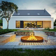 Minimalist Architecture, Modern Architecture, Rendering Architecture, Architecture Diagrams, Architecture Portfolio, Modern Buildings, Chalet Design, House Design, Bungalow Extensions