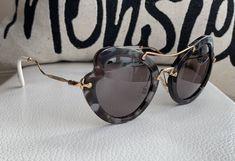 MIU MIU SMU 11R UAH-6X1 Scenique Cat Eye Double Nose Bridge Sunglasses   fashion  clothing  shoes  accessories  womensaccessories ... b4449939e1