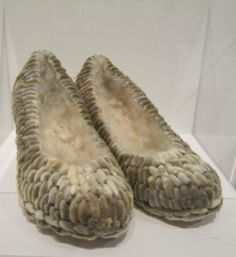 Anni Rapinoja, Spring shoes, 2004.  Canvas shoes, pussy willow buds