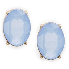 Cara Oval Button Stud Earrings (€23) ❤ liked on Polyvore featuring jewelry, earrings, accessories, brinco, blue, oval earrings, stud earrings, blue earrings, studded jewelry and plastic post earrings