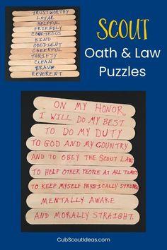 Scout Oath Law Cub Scouts