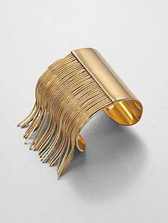 All about #fringe - Michael Kors #Fringe Cuff Bracelet #michaelkors