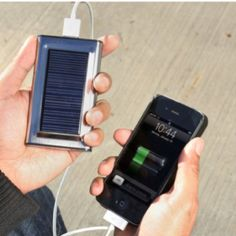Juice bar portable solar charger - a thing of great beauty.