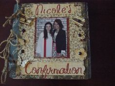 8x8 mini chipboard album, Nicole's Confirmation  by goobernut @2peasinabucket