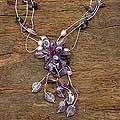 Amethyst and Pearl Fantasy Necklace