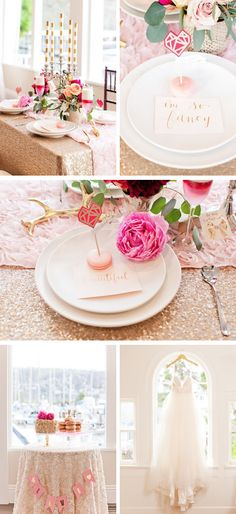 Valentine's Day Inspired - Color of the Year - Marsala, Pink + Gold - www.theperfectpalette.com - Design and Styling by Candy Crush Shop + Blissful2Be, Photography + Florals by Studio Dizon,