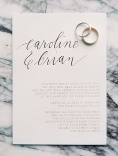 Elegant and modern Wedding Invitation, image by Clary Pfeiffer Photo, Florist Fleur and Stationery by Allie Hasson