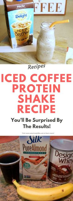 Iced Coffee Protein Shake Recipe!. Here is..!!