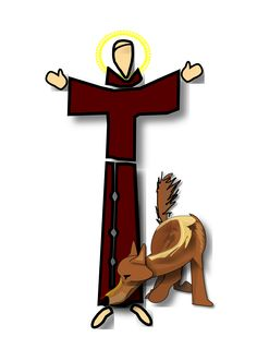 Resultado de imagen para dibujos de san francisco de asis y el lobo Francis Of Assisi, St Francis, Kirchen, Photo Illustration, San Francisco, Christianity, Photo Art, Folk Art, Catholic