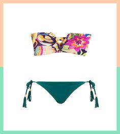 13 Bandeau Bikini Tops and Bottoms That Will Send Tan Lines Packin' via Brit + Co