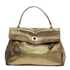 Metallic Gold Leather Saint Laurent Muse Bag