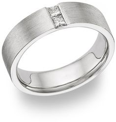 applesofgold.com - Husband and Wife Diamond Wedding Band Ring - 14K White Gold