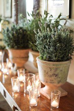 lavender and tea lights