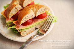 Bagle Sandwich for Brunch