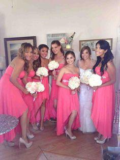 Beach Bridesmaid Dresses - Wedding and Bridal Inspiration Coral Bridesmaid Dresses, Wedding Dresses, Laguna Beach, Bridal, Wedding Fun, Maids, Inspiration, Future, Fashion