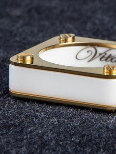 White Ceramic / Gold ring
