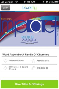 Word Assembly: A Family of Churches in Oakland, California #GivelifyChurches