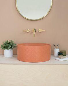 Nouvelle série de lavabos à motifs par la marque Kast Concrete Basins - Journal du Design
