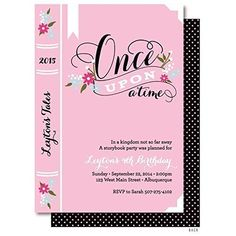 Story Book Birthday Invitations