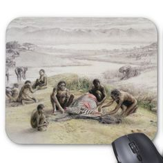 Unbekannt - Impression of a camp occupied by Homo habilis x cm) Homo Habilis, Prehistoric Man, Prehistoric Animals, Ages Of Man, Hunter Gatherer, Human Evolution, Anthropology, Archaeology, Camping
