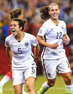 USWNT // Kelley O'Hara celebrating her first international goal