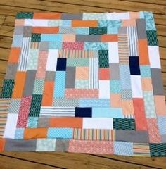 Giant Log Cabin Quilt | FaveQuilts.com
