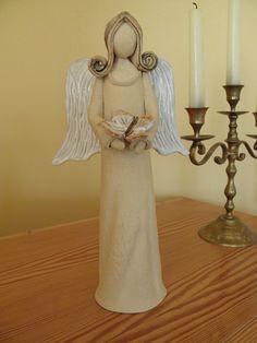 Anděl U nás andělé..... kam se podíváš...... a u Vás?  Vysoký 29 cm.