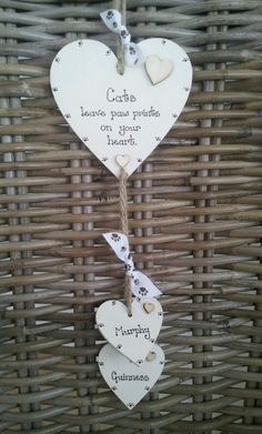 Dog/Cat Leave paw prints on your heart, memorial gift, personalised keepsake | eBay