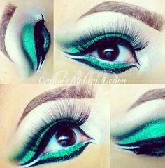 #make #maquiagem #sombras #verde