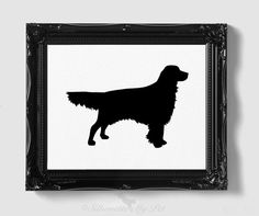 Golden Retriever Silhouette  Hand-cut Original by silhouetteMYpet