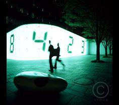 clock art installation - Google Search