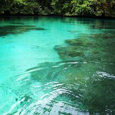 between the rock islands in palau
