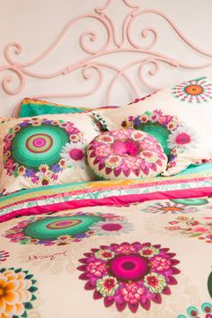 Make your bed your throne with Desigual. These bright, floral print pillows and cushions will bring a bit of summer to your bedroom, regardless of the season!