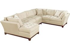 Cindy Crawford Home Metropolis Taupe Left 3 Pc Sectional