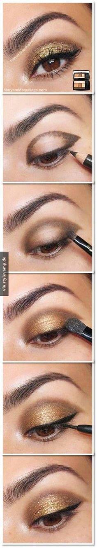 Wunderschönes Makeup für den Abend