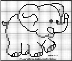 Baby Elephant Blowing Hearts – (Graph AND Row-by-Row Written Crochet Instructions) – 03 - Crochet Brazil Elephant Cross Stitch, Crochet Elephant, Cross Stitch Baby, Cross Stitch Patterns, Baby Elephant, Afghan Crochet Patterns, Crochet Chart, Filet Crochet, Baby Knitting Patterns