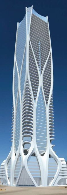 Zaha Hadid's One Thousand Museum tower in Miami. -1000-Museum.jpg (476×1379)
