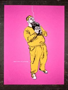Walter from the Big Lebowski limited edition screenprinted poster series. 18x24
