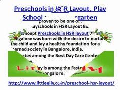 Preschools in HSR Layout, Play School and Kindergarten via DailyMotion