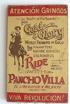 Viva Revolucion - Pancho Villa Canvas Print / Canvas Art by Richard Reeve Pancho Villa, Vintage Advertisements, Vintage Ads, Mexican Revolution, Aztec Culture, Chihuahua Mexico, Le Far West, Cool Posters, Old West