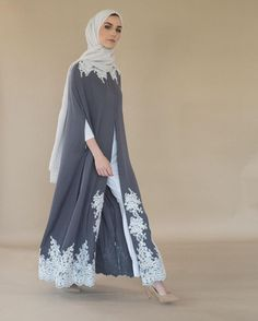 Open Abaya Designs – 20 Latest Open Abaya Styles You Can Buy A Fusion Between Modern and Traditional Abaya Styles New Abaya Style, Hijab Style Dress, Modest Fashion Hijab, Niqab Fashion, Fashion Dresses, Decor Inspiration, Hijab Fashion Inspiration, Muslim Women Fashion, Islamic Fashion