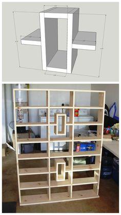 DIY Media Shelves :: FREE PLANS at buildsomething.com