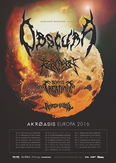 REVOCATION European Fall 2016 Tour with Obscura and labelmates RIVERS OF NIHIL| Metal Blade Records