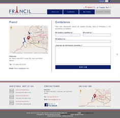 """Site """"Francil"""" - Page Contact"""