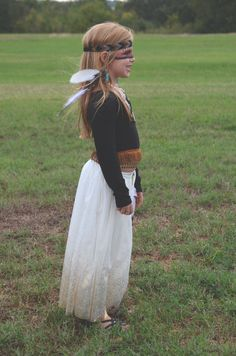 Kids costumes / diy costumes / homemade costumes / Indian costume / Native American costume / girls Indian costume