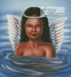 Water Angel Counted Cross Stitch Pattern http://www.artecyshop.com/index.php?main_page=product_info&cPath=74_76&products_id=969