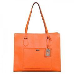 06b45dbbd4 Ralph Lauren Lowell Tote in Kumquat Handbags On Sale