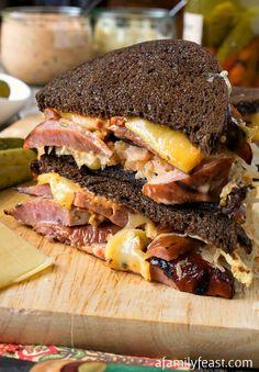 Our Kielbasa Reuben is a delicious twist on the classic Reuben sandwich!